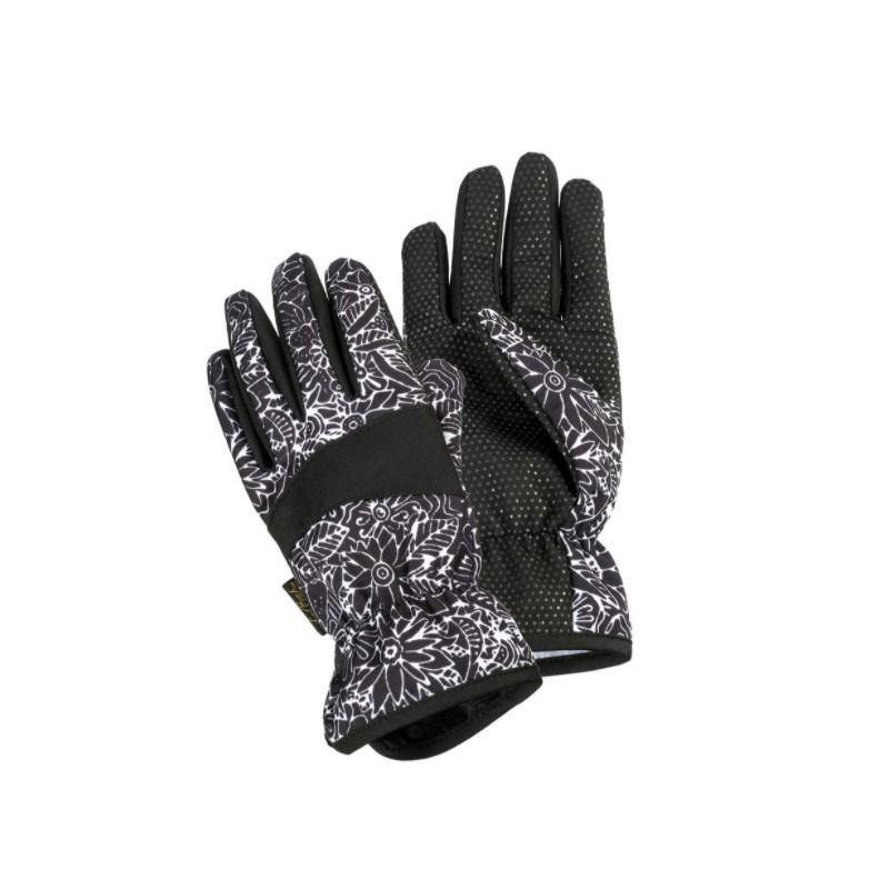 Black & White Floral Garden Gloves, Two Sizes - Floral Acres Greenhouse & Garden Centre