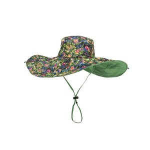 Reversible Jungle Song Sunhat, One Size