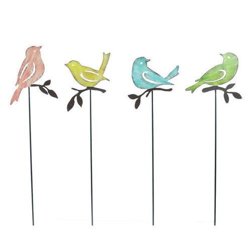 Plant Pick, Metal Bird with Cut-Outs - Floral Acres Greenhouse & Garden Centre
