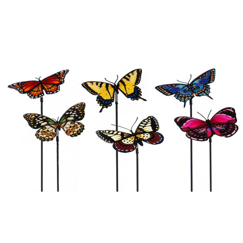 Realistic Butterfly Plant Pick, 6 Assorted Designs - Floral Acres Greenhouse & Garden Centre