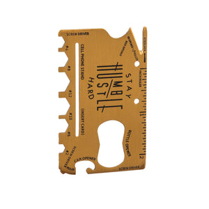 Multifunctional Metal Tool Card, 12-in-1