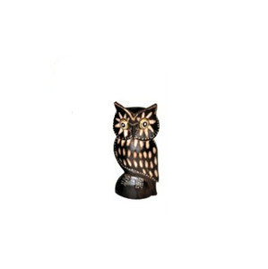 Decor, Wood Carved Owl, Cokek, Small