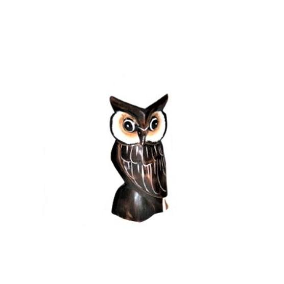 Decor, Wood Carved Owl, Brown, Medium - Floral Acres Greenhouse & Garden Centre