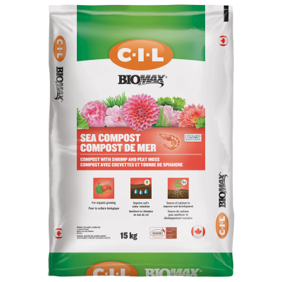 C-I-L BIOMAX Organic Sea Compost, 15kg - Floral Acres Greenhouse & Garden Centre