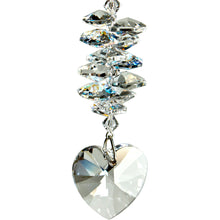 Load image into Gallery viewer, Crystal Heart Cascade Suncatcher, Ice