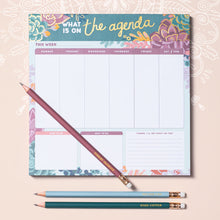 Load image into Gallery viewer, Weekly Calendar Note Pad, Succulents Agenda