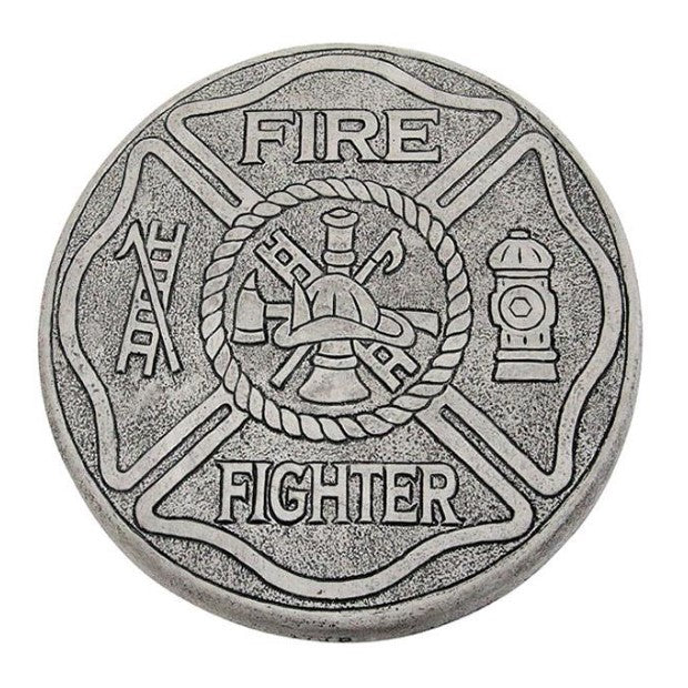 Garden Stone, 10in Round, Firefighter