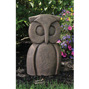 Contemporary Owl Statue, 16in
