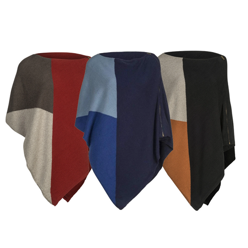 Poncho, Colour-Blocked, Zip, 3 Ast. Colours - Floral Acres Greenhouse & Garden Centre