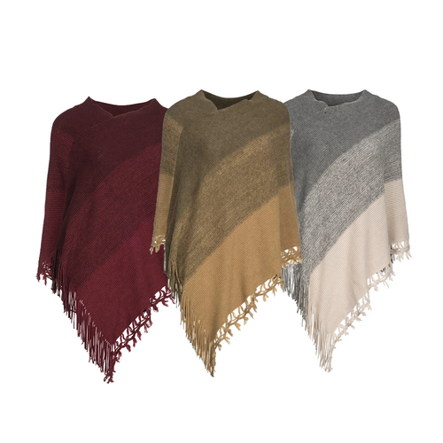Poncho, Gradient Design, 3 Ast. Colours - Floral Acres Greenhouse & Garden Centre