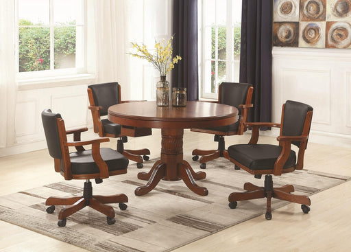 Mitchell Three-In-One Game Table and Four Arm Chairs image