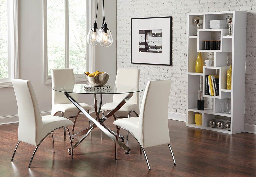 Ophelia Contemporary White Dining Chair image