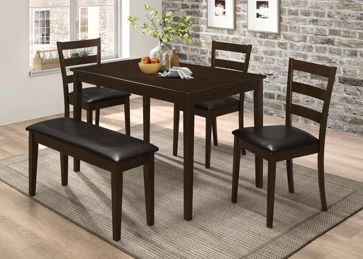 Taraval Cappuccino Five-Piece Dining Set With Bench image