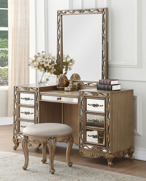 Orianne Antique Gold Vanity Desk image