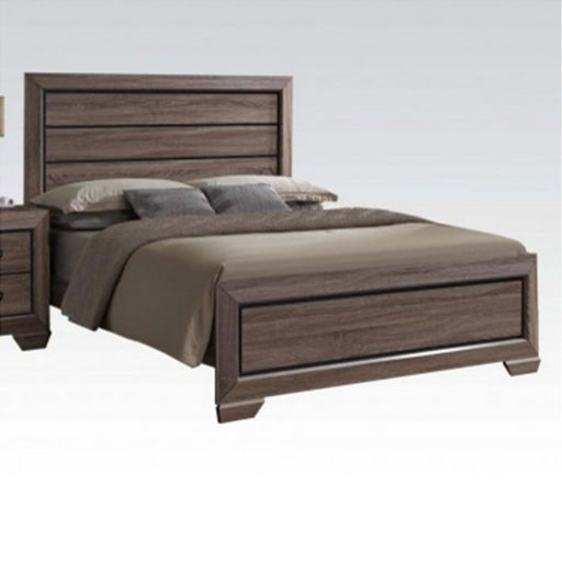 Acme Lyndon Queen Panel Bed in Weathered Gray Grain 26020Q image