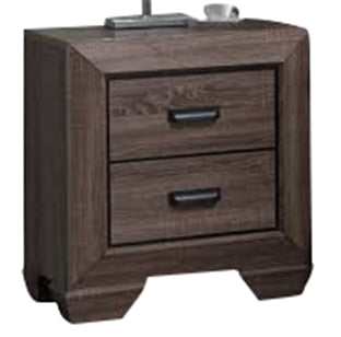Acme Lyndon Nightstand in Weathered Gray Grain 26023 image