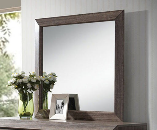 Acme Lyndon Landscape Mirror in Weathered Gray Grain 26024 image