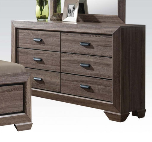 Acme Lyndon Drawer Dresser in Weathered Gray Grain 26025 image