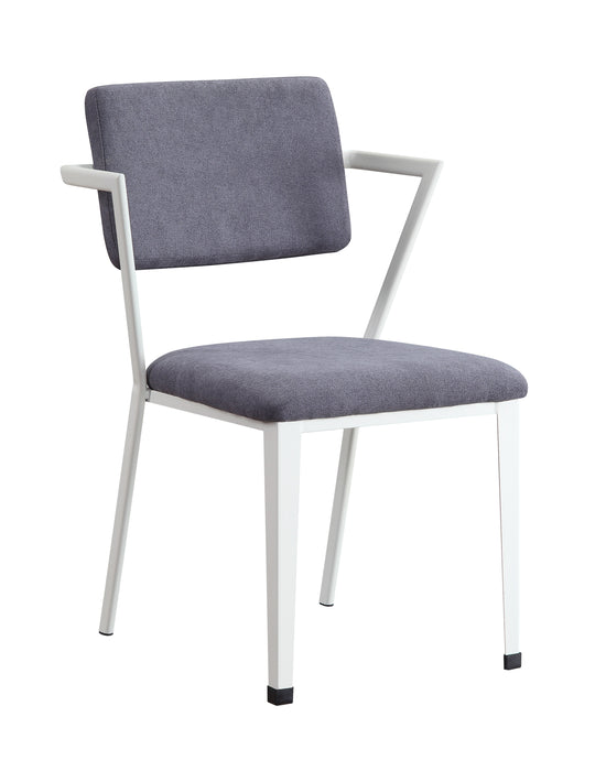Cargo Gray Fabric & White Chair image