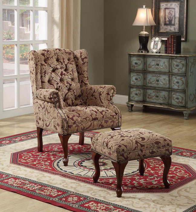 Queen Anne Light Brown Accent Chair image