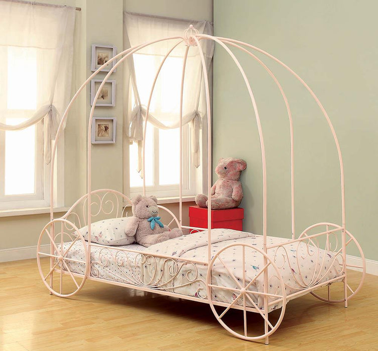 Massi Pink Twin Canopy Bed image