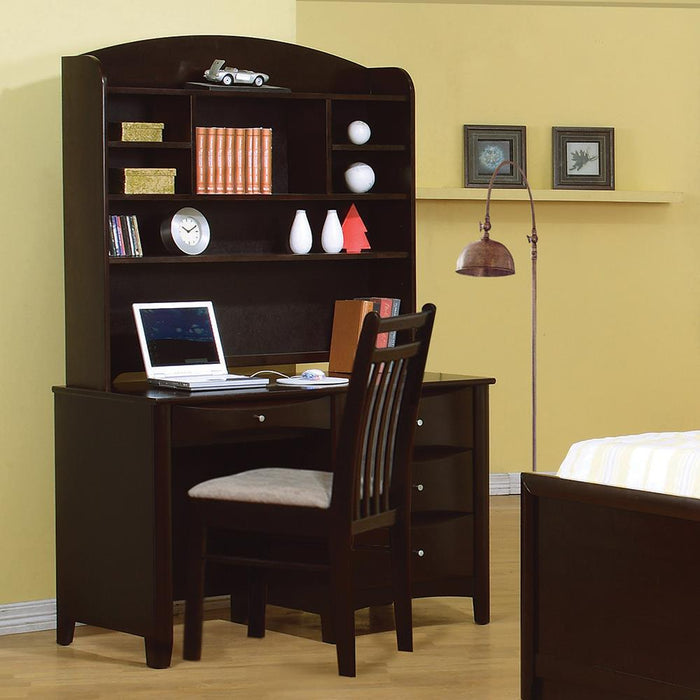 Phoenix Transitional Cappuccino Hutch image