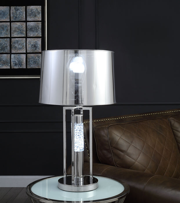 Olsen Clear Acrylic & Chrome Table Lamp image