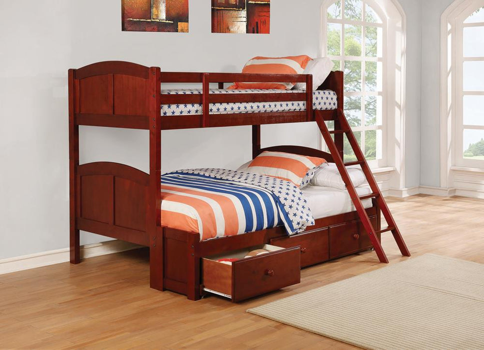 Parker Chestnut Twin-over-Full Bunk Bed image