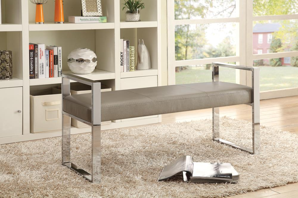 G500434 Contemporary Chrome and Champagne Bench image