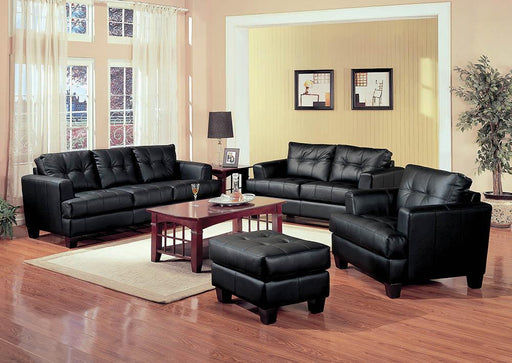 Samuel Transitional Black Ottoman image