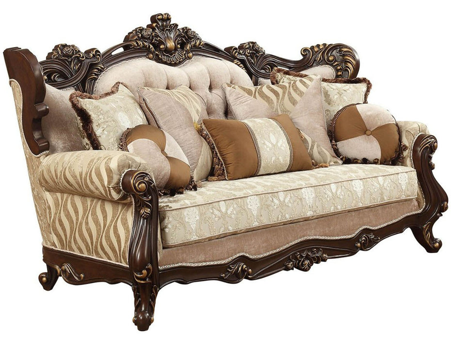 Acme Furniture Shalisa Sofa with 7 Pillows in Walnut 51050 image