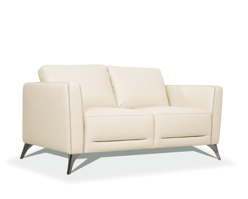 Malaga Cream Leather Loveseat image