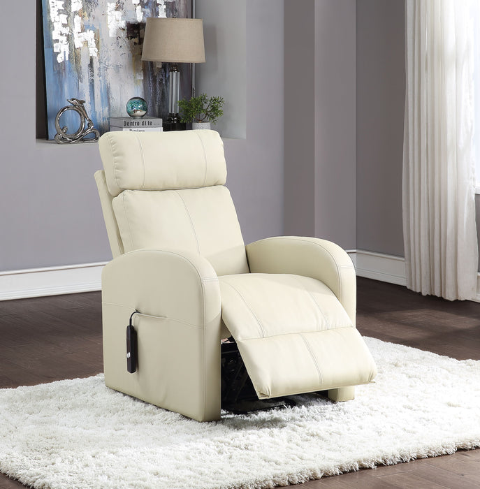 Ricardo Beige PU Recliner w/Power Lift image