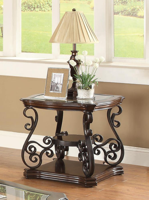 Occasional Traditional Dark Brown End Table image