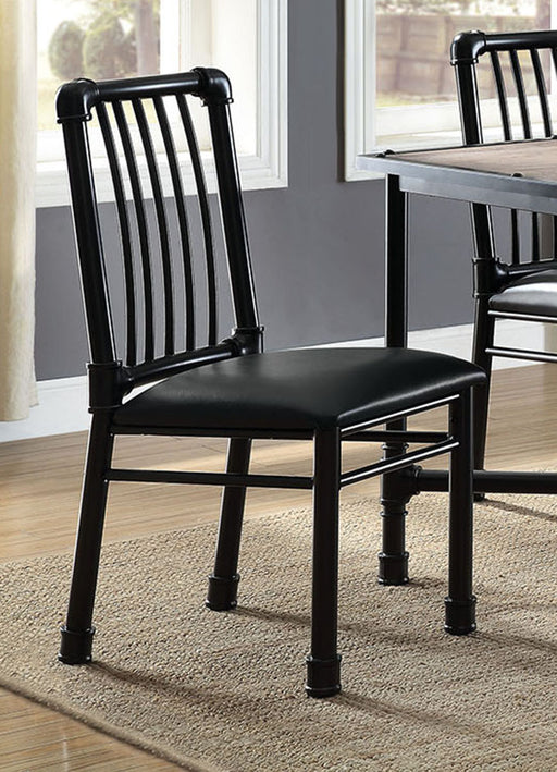 Acme Furniture Caitlin Side Chair in Black (Set of 2) 72037 image