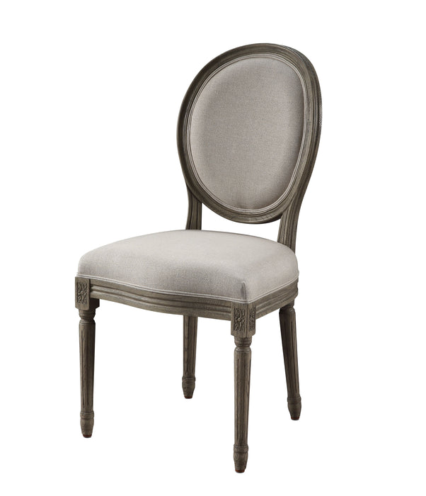 Ruby Linen & Rustic Gray Oak Side Chair image