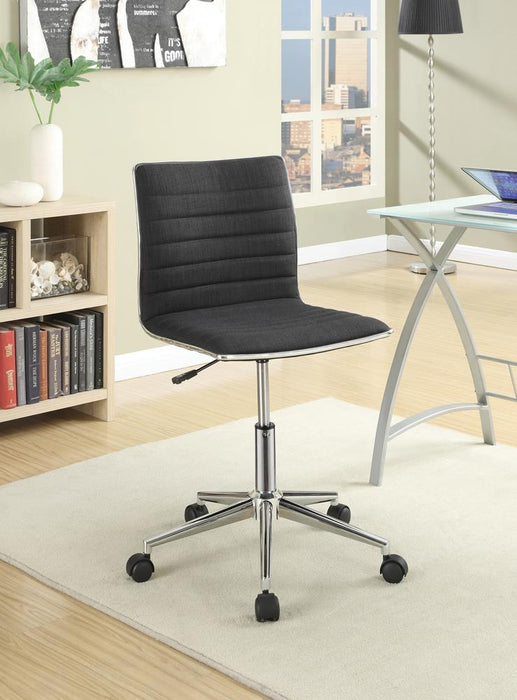Modern Black and Chrome Home Office Chair image
