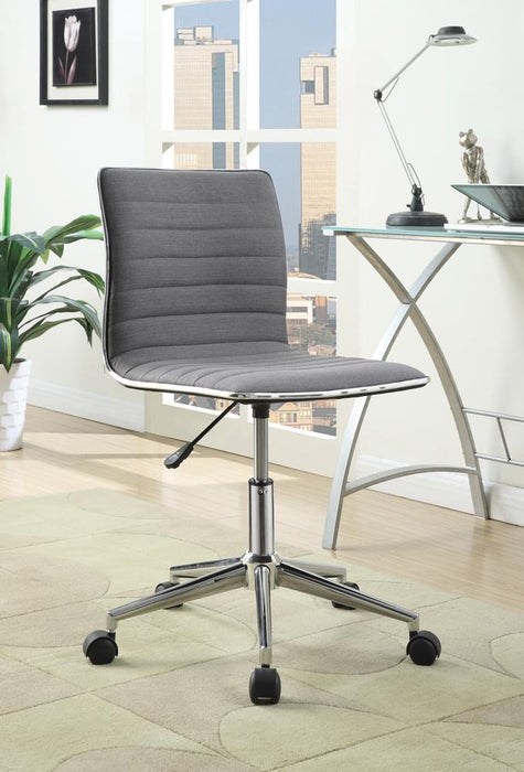 Modern Grey and Chrome Home Office Chair image