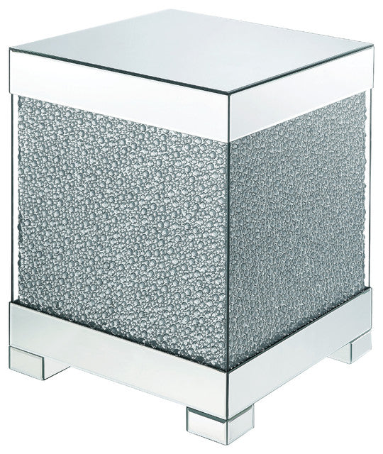Acme Furniture Mallika End Table in Mirrored/Crystals 87912 image
