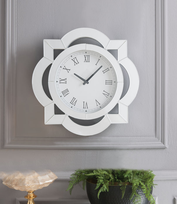 Lilac Mirrored Wall Clock image