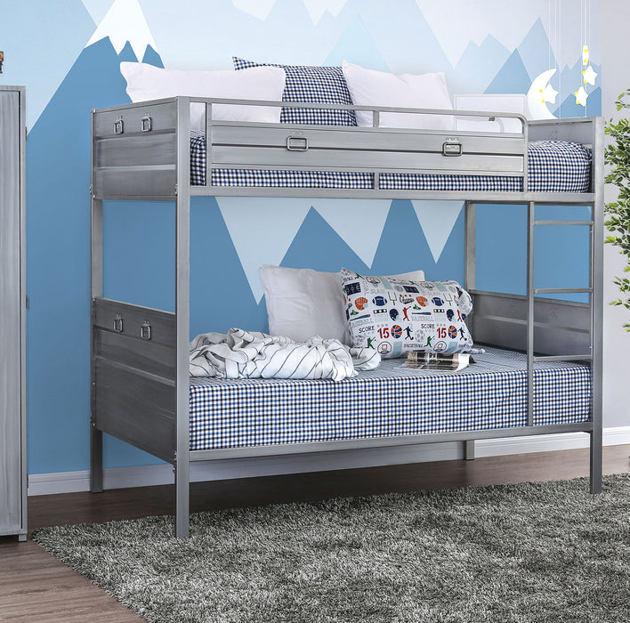 Mccredmond Silver Twin/Twin Bunk Bed image