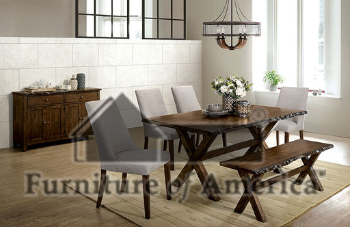 Woodworth Walnut 6 Pc. Dining Table Set w/ Bench image