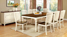 HARRISBURG Vintage White/Dark Oak 7 Pc. Dining Table Set image