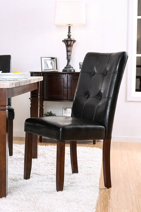 Marstone Brown Cherry/Black Side Chair (2/CTN) image