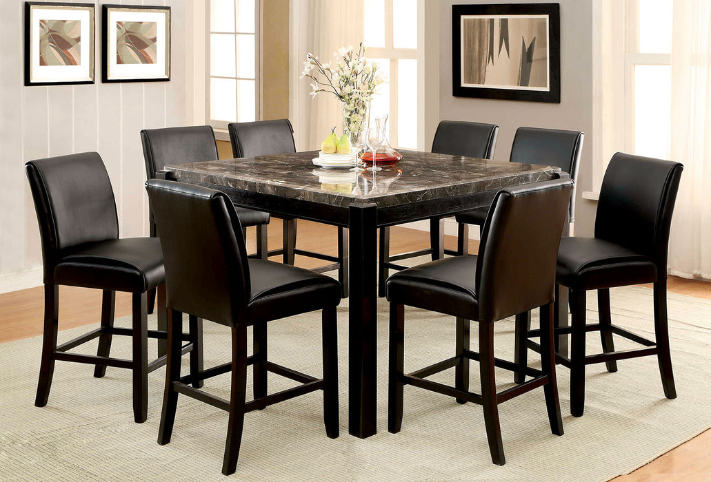 GRANDSTONE II Black/Black 7 Pc. Dining Table Set image
