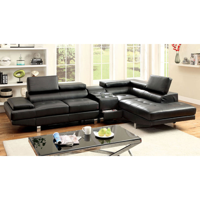 Kemina Black Sectional, Black image