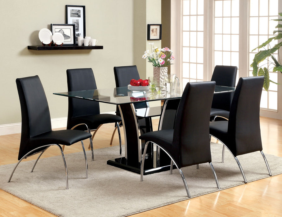 Glenview Black 7 Pc. Dining Table Set image