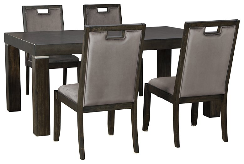 Hyndell Signature Design 5-Piece Dining Room Set image