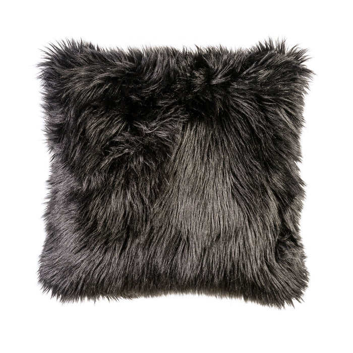 "Jet Black 20"" X 20"" Pillow, Fur Black (2/CTN) image"