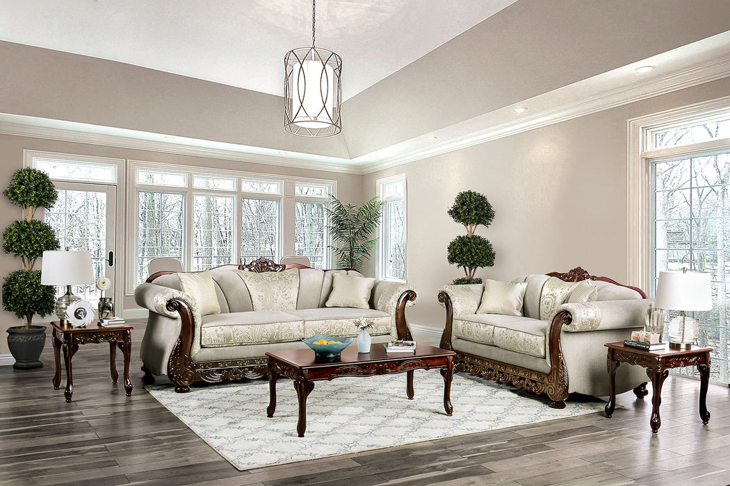 Newdale Ivory Sofa + Love Seat image